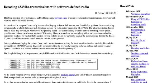 DXZone Decoding 433 MHz with SDR