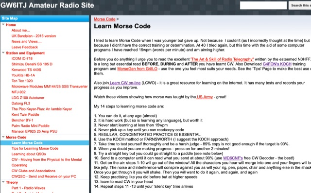 DXZone Learn Morse Code by GW6ITJ