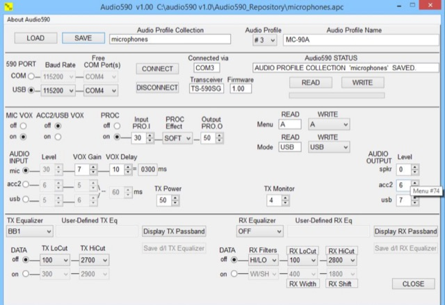 DXZone AUDIO590 - Audio Setup for TS-590