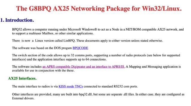 DXZone BPQ32 the AX25 Networking Package for Windows