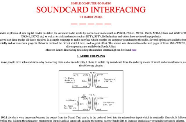 DXZone Soundcard Interfacing