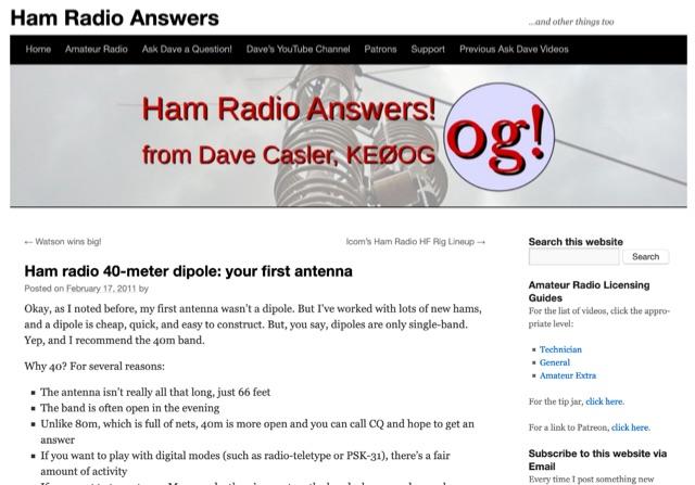 DXZone Ham radio 40-meter dipole: your first antenna