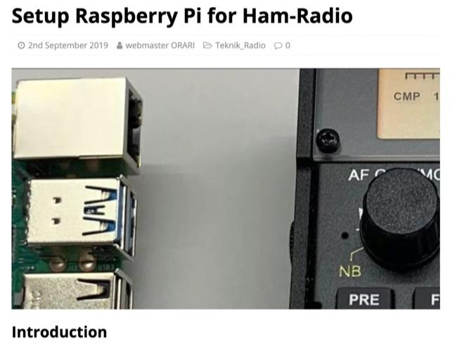 DXZone Setup Raspberry Pi for Ham-Radio