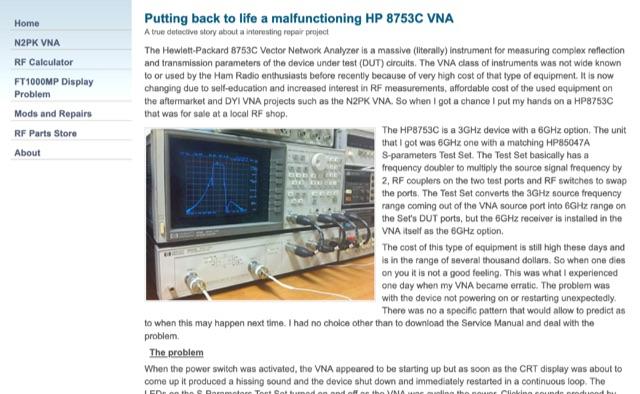 DXZone Repairing HP 8753C VNA