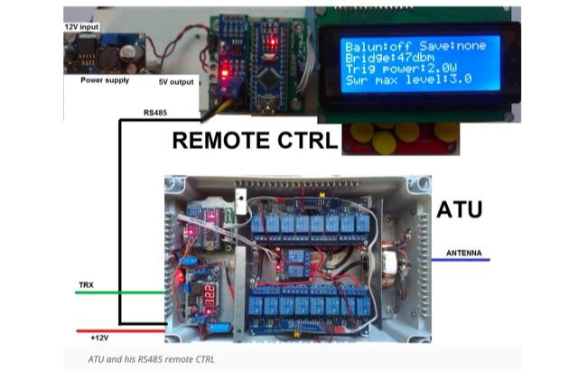 DXZone Automatic HF Antenna Tuner with Arduino