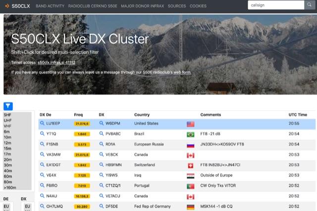 DXZone S50CLX Live DX Cluster