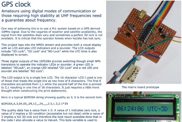 DXZone GPS clock