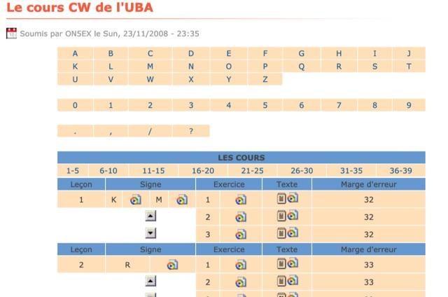 DXZone Morse Code Course by UBA