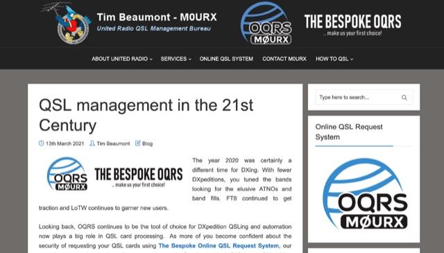 DXZone QSL management in the 21st Century
