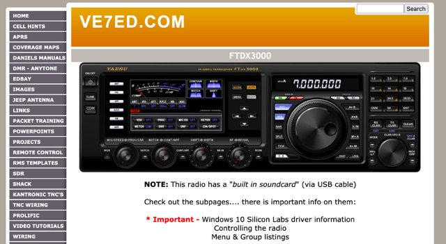 DXZone FTdx3000 Information pages