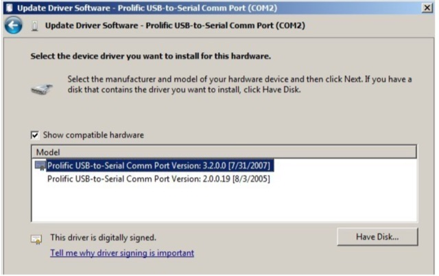 DXZone USB to Serial Drivers by PROLIFIC