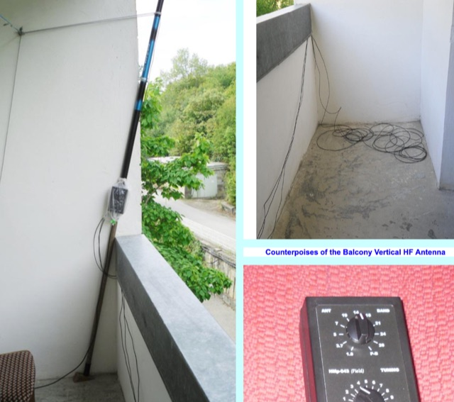 DXZone Balcony Vertical HF Antenna