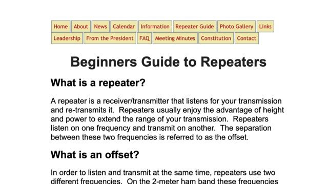 DXZone Beginners Guide to Repeaters