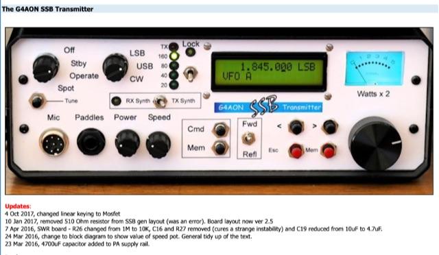 DXZone The G4AON SSB Transmitter
