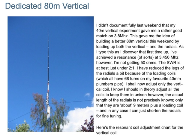 DXZone Dedicated 80m Vertical