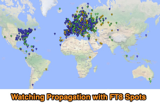 DXZone Watching Propagation with FT8 Spots