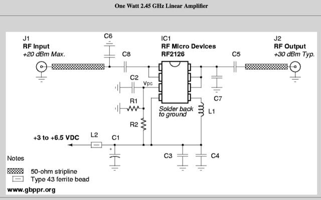 DXZone Homebrew 1 Watt 2.4 GHz Power Amplifier