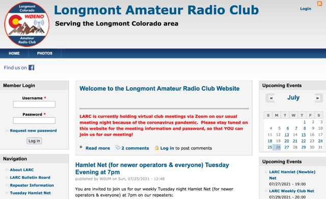 DXZone Longmont Amateur Radio Club Website