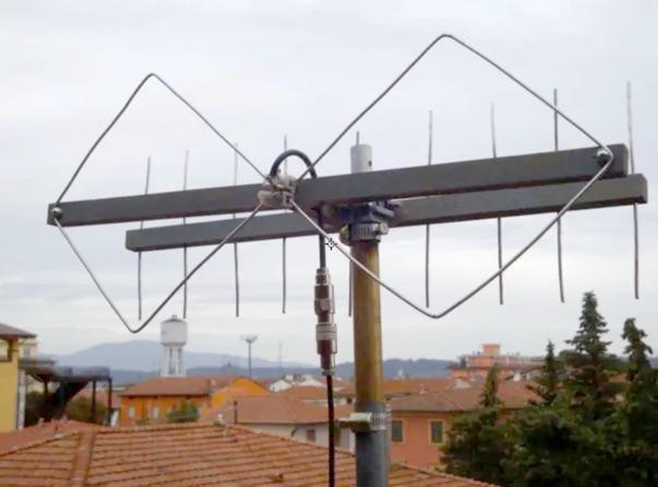 DXZone Double Quad Antenna for VHF UHF