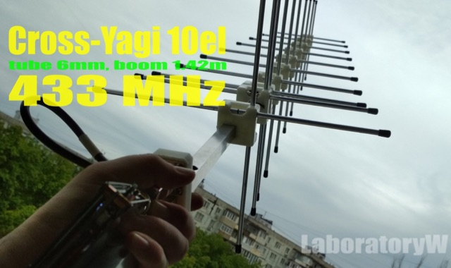 DXZone Cross-Yagi 10el Antenna for 70cm