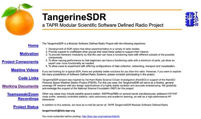 DXZone TangerineSDR Project