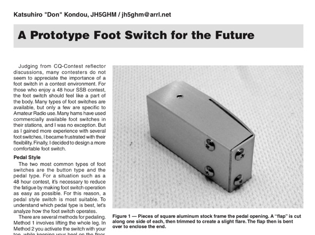 DXZone A Foot Switch for the Future