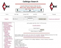 Canadian Amateur Radio Callsign Database