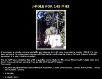 Simple j-pole antenna for 2 meter
