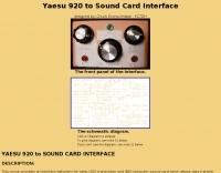 DXZone Yaesu 920 & SoundCard