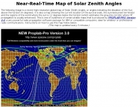 Map of solar zenith angles