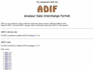 DXZone ADIF Specifications