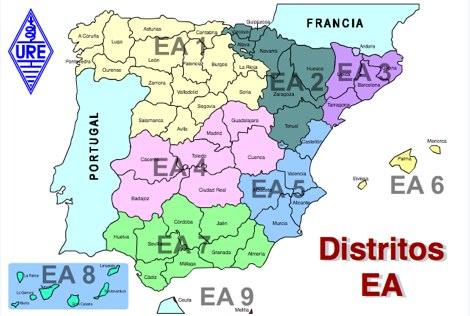 District Map of Spain