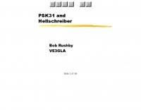 PSK31 and Hellschreiber