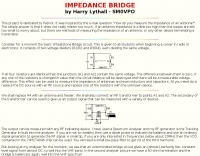 Impedance Bridge