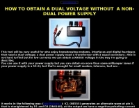 How to obtain a dual voltage without a transformer