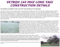 DXZone 43 element Yagi for 2 mt.