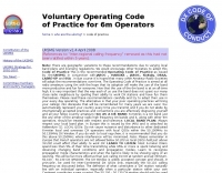 50 Mhz Operating Code of Practice