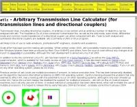 atlc - Arbitrary Transmission Line Calculator.