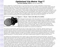 Optimised Six-Metre Yagi