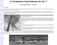 A 10-element Yagi Antenna for Six