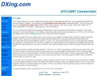 DXZone UTC-GMT Conversion