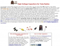 JustRadios, Capacitors for Antique Radios