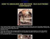 Unsoldering old electronic components