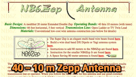 40 thru 10 Meter Zepp Antenna - Resource Detail - The DXZone com