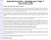 Azimuth Precision - knowing your Yagi!