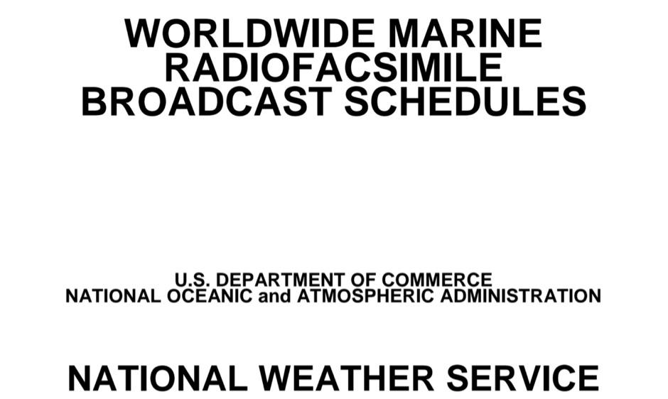 Marine broadcast