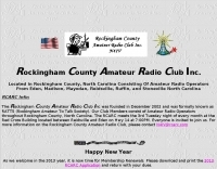 Rockingham County Amateur Radio Club