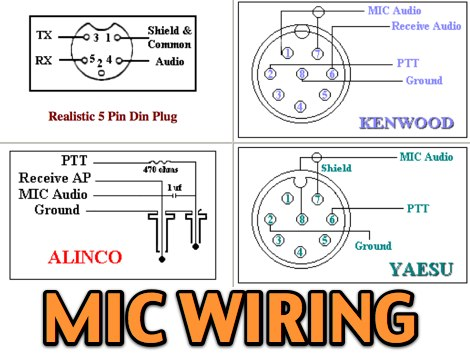 Icom Microphone Wiring Diagram: 11 Most Popular MIC Wiring Diagramsrh:dxzone.com,Design