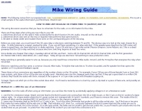 Mike wiring guide