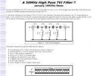 6m High Pass TVI filter